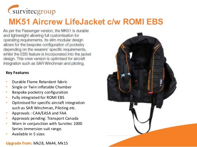 MK50 Lifejacket & PSTASS EBS - Helicopter Operator Introduction new