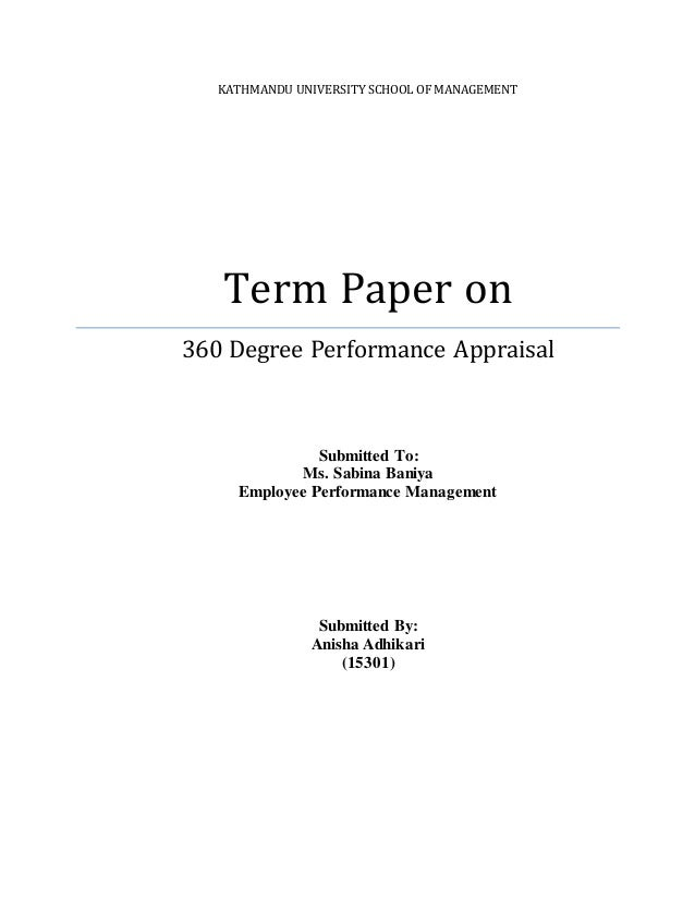 term paper on performance appraisal and Full-text (pdf) | this paper aims at studying outcomes of performance appraisal and exploring factors that can make harm to the pa effectiveness in the perspective of pakistani public and private sector organizations.