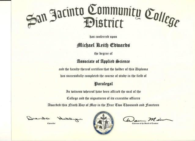 diploma paralegal diploma