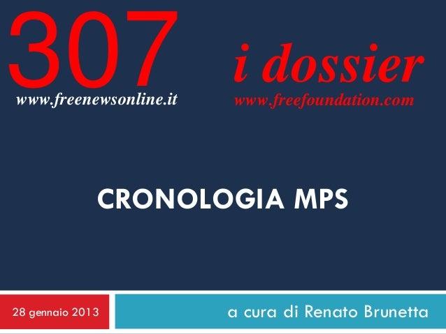 307www.freenewsonline.it                        i dossier                        www.freefoundation.com              CRONO...