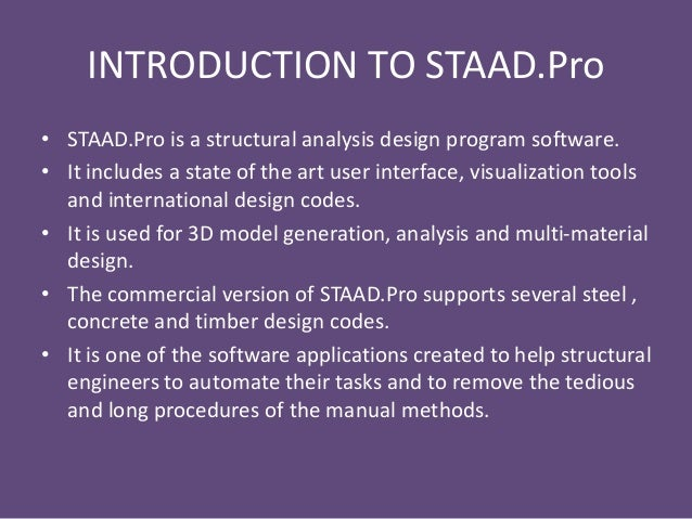 Staad manual