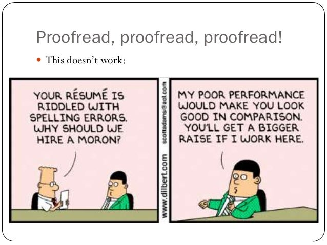 proofread resume