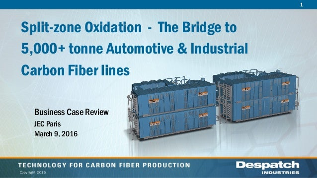 1 Copyright 2015 Split-zone Oxidation - The Bridge to 5,000+ tonne Automotive & Industrial Carbon Fiber lines Business Cas...