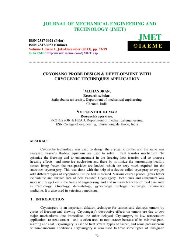 Journal of Mechanical Engineering and Technology (JMET) ISSN 2347-3924 (Print), ISSN 2347-3932 (Online), Volume 1, Issue 1...