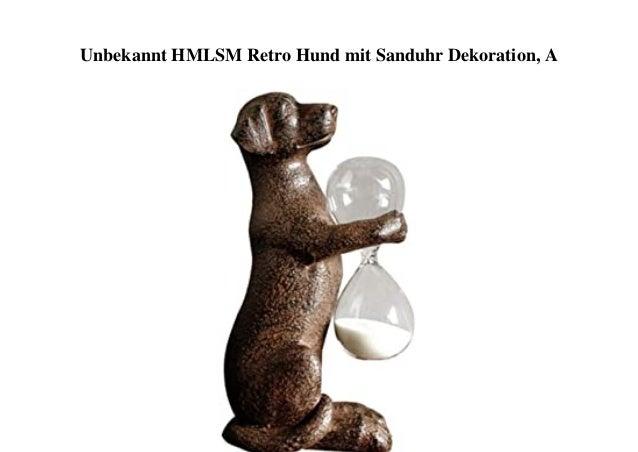 Unbekannt HMLSM Retro Hund mit Sanduhr Dekoration, A