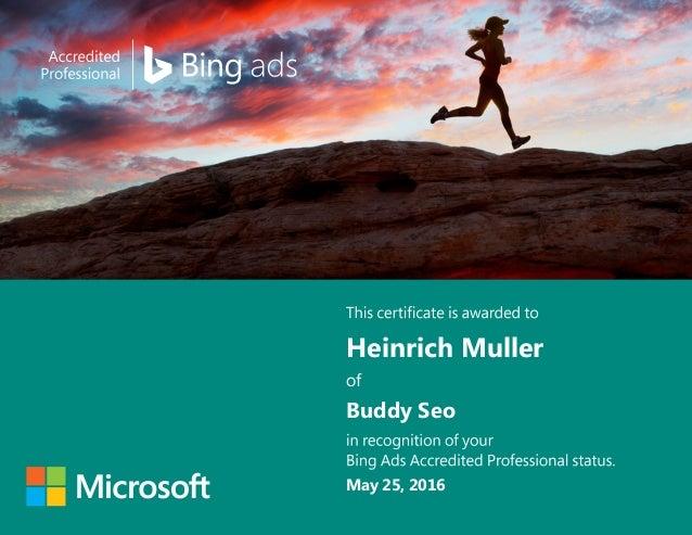Heinrich Muller Buddy Seo May 25, 2016