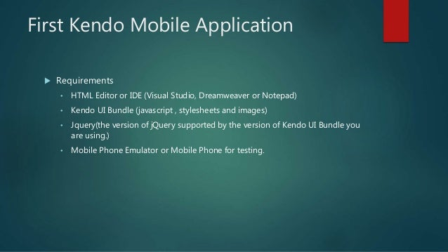Introduction to Kendo Mobile Applications