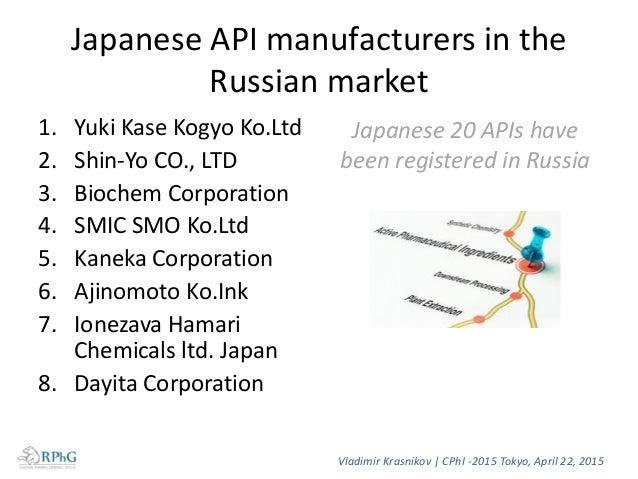 Japanese nutritional supplement (FDF) market in Russia, USD Vladimir Krasnikov   CPhI -2015 Tokyo, April 22, 2015 Source: ...