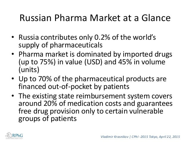 Ratio of the sales volume of Rx and OTC in 2014 Value-wise (RUR) Volume-wise (units) 50% 50% Rx OTC 29% 71% Rx OTC Vladimi...