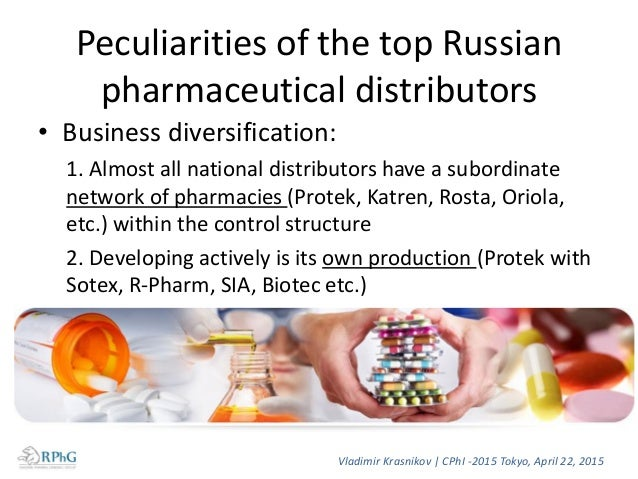Rating of pharmacy chains at the end of 2014 Rating Pharmacy chains Volume, billion rubles Share in commercial segment, In...