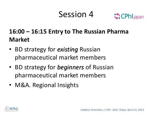 Market Access RPhG can make assessment and test your product against competing ones in the Russian market Build a winning ...