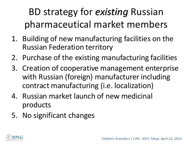 """Localization 1. The key factor in the state strategy """"Pharma 2020"""" 2. Localization of pharmaceutical production – a comple..."""