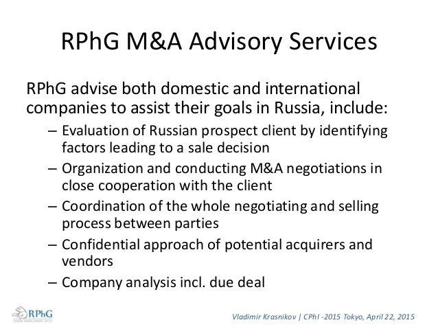 Contact Vladimir Krasnikov, Director General Russian Pharmalicensing Group LLC 27, Presnensky Val, office 814 Moscow 12355...