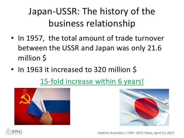 Japan-USSR: The history of the business relationship • In 1957, the total amount of trade turnover between the USSR and Ja...