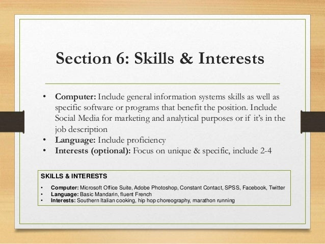 awesome skills and interests resume contemporary simple resume
