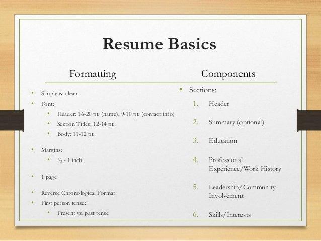 resume cl weekly workshop