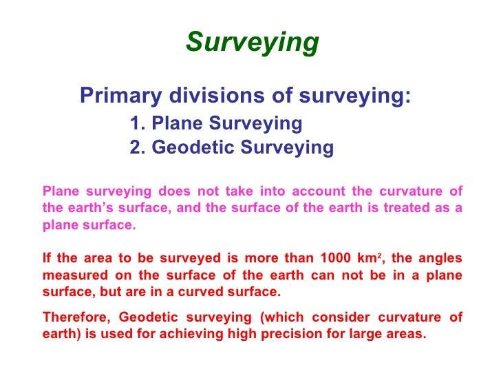 types of land surveying pdf