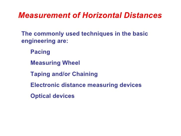 Surveying Electronic Distance Measurement : Chain survey