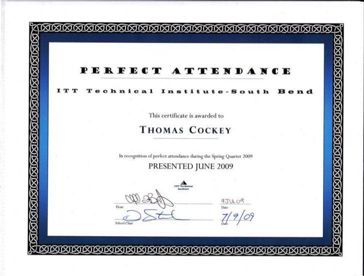 June 2009 Perfect Attendance