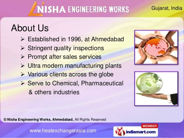 Gujarat, India    About Us            Established in 1996, at Ahmedabad            Stringent quality inspections        ...