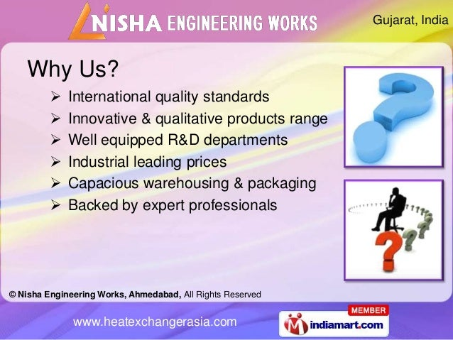 Gujarat, India    Why Us?            International quality standards            Innovative & qualitative products range ...
