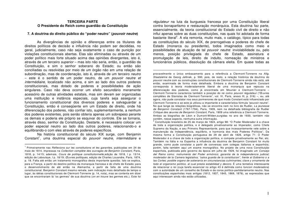 TERCEIRA PARTE                                                       régulateur na luta da burguesia francesa por uma Cons...