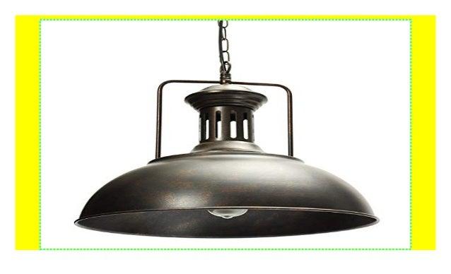 AOGUERBE Lampenschirm Pendelleuchte Vintage Hängeleuchte Retro E27 D…