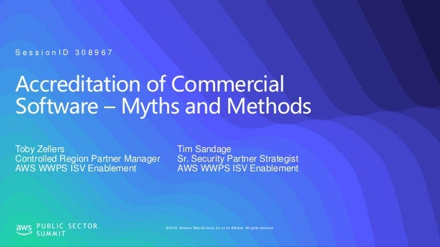 Accreditation of Commercial Software, Myths and Methods