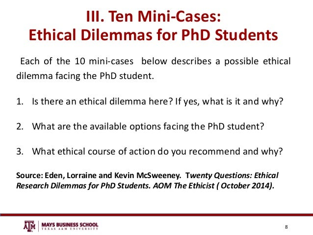 Applying ethics in an ethical dilemma