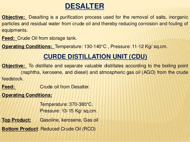 VACCUM DISTILLATION UNIT (VDU) Objective: To recover valuable gas oils from reduced crude oil via vacuum distillation tech...