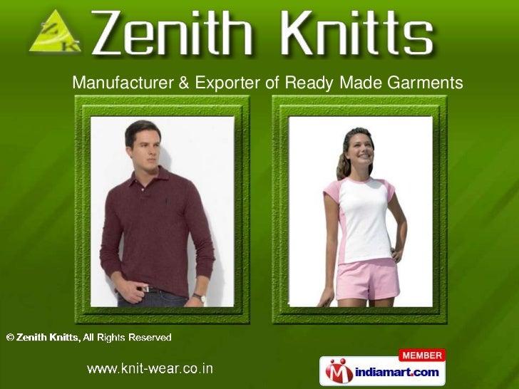 Manufacturer & Exporter of Ready Made Garments