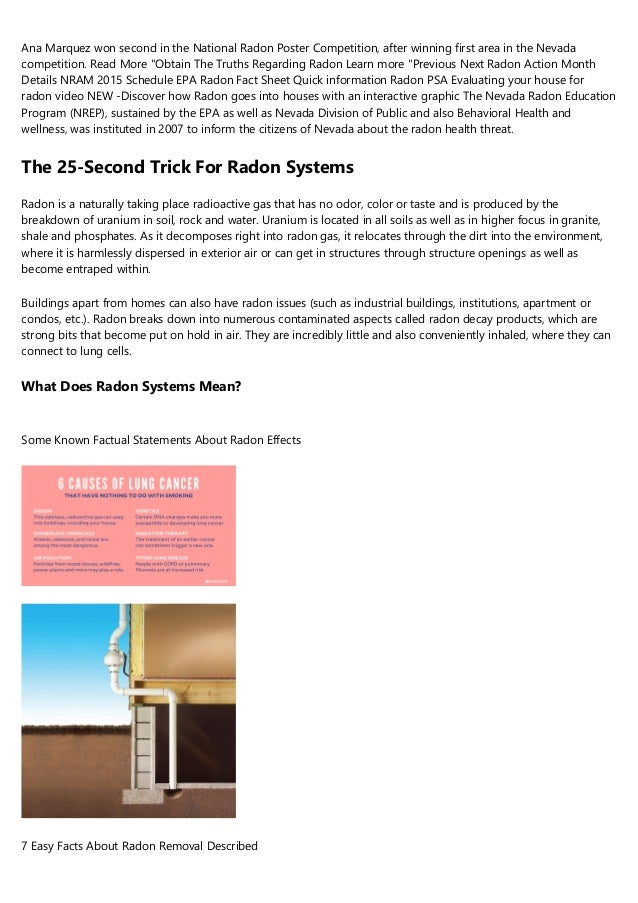 Ana Marquez won second in the National Radon Poster Competition, after winning first area in the Nevada competition. Read ...