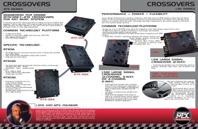 Mtx crossover rtx01a