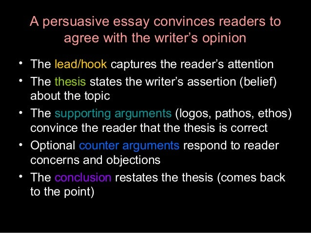 persuasive essay wiki Essay syllabus edit 2 32  as we will discuss in class, creative nonfiction includes many forms or genres of writing, including essays (personal, persuasive, journalistic and academic), autobiography/memoir, and even poetry at times and some types of creative nonfiction can include more than one of these genres in one text.