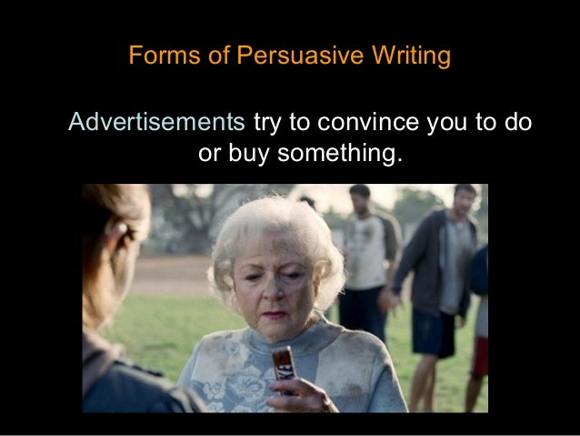 a persuassive essay Persuasive writing is a type of writing that requires you to persuade the reader that indeed your sentiments are nothing but the truth a persuasive paper is obliged to satisfy the reader to go by your stand in the argument being presented.