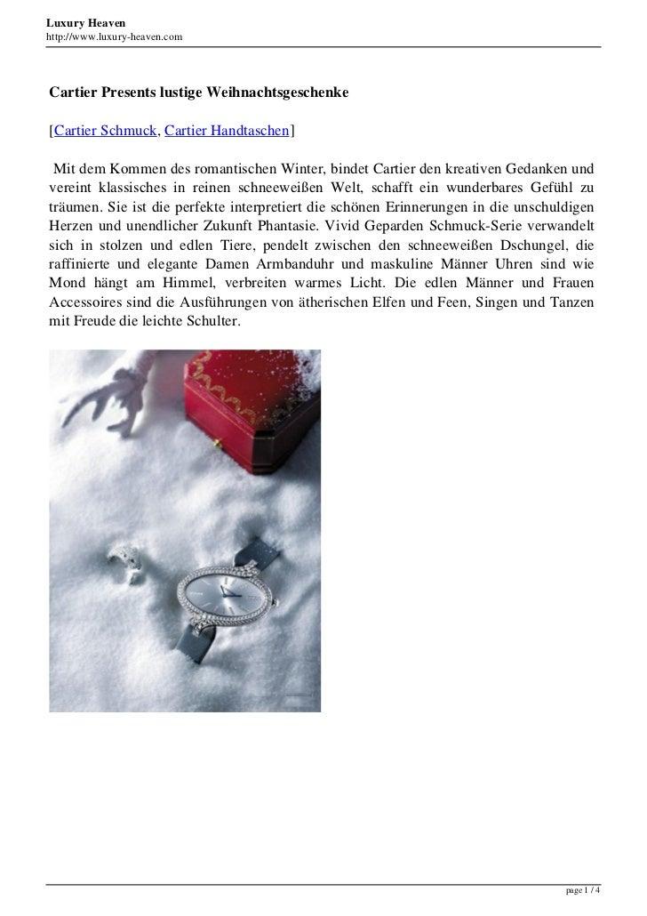 Luxury Heavenhttp://www.luxury-heaven.comCartier Presents lustige Weihnachtsgeschenke[Cartier Schmuck, Cartier Handtaschen...