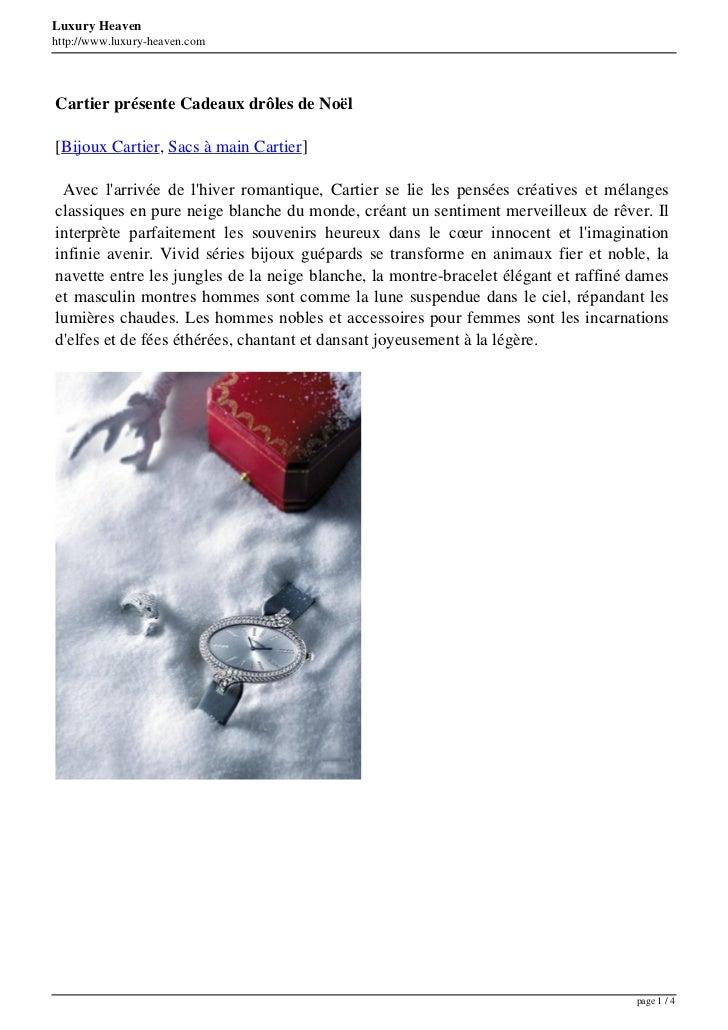 Luxury Heavenhttp://www.luxury-heaven.comCartier présente Cadeaux drôles de Noël[Bijoux Cartier, Sacs à main Cartier] Avec...