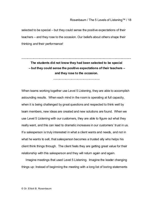 5 levels of listening ebook boring statements 18 rosenbaum the fandeluxe Document