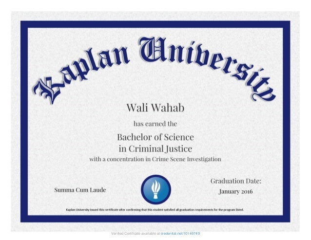 KU_B.S. Criminal Justice Crime Scene Investigation