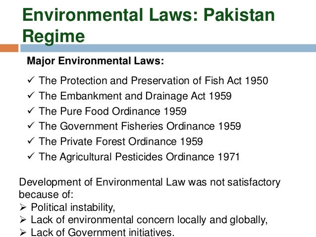 environmental regimes