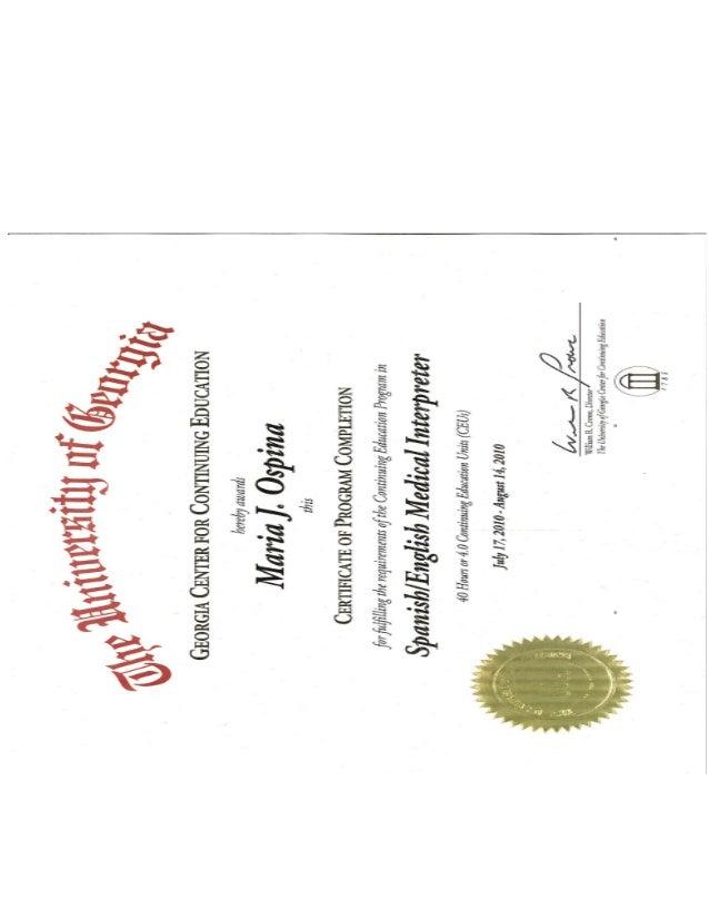 certificate uga conversion