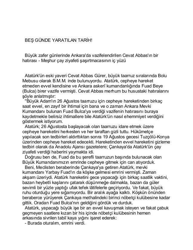 BEŞ GÜNDE YARATILAN TARİH!  Büyük zafer günlerinde Ankara'da vazifelendirilen Cevat Abbas'ın bir  hatırası - Meşhur çay zi...
