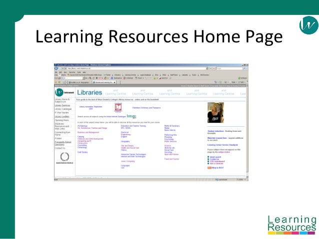 Learning Resources Home Page