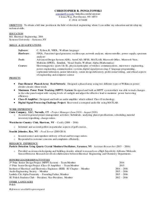 CRP Resume - February 2017 (Updated)