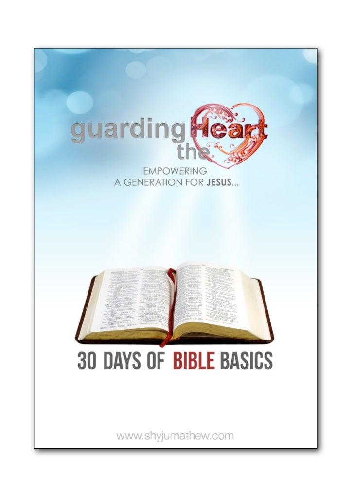 IntroductionGUARDING THE HEART shyjumathew.com                                                                            ...