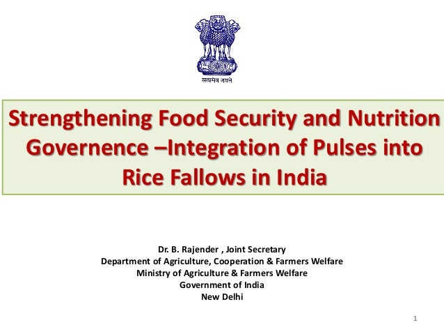 Dr. B. Rajender , Joint Secretary Department of Agriculture, Cooperation & Farmers Welfare Ministry of Agriculture & Farme...