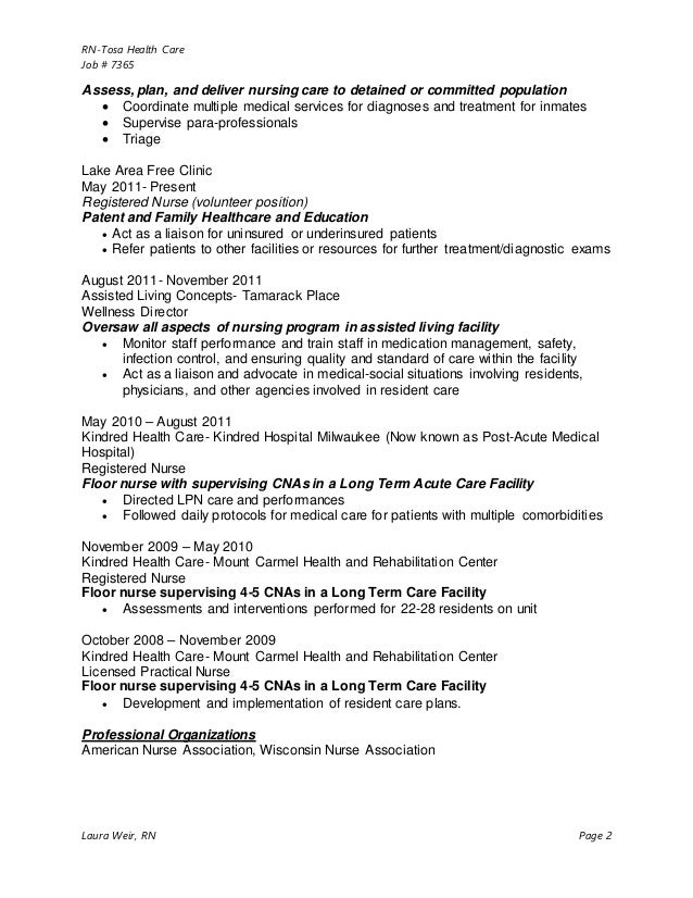 laura weir resume 2015