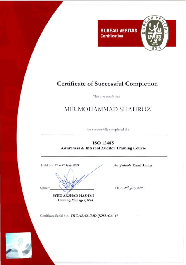 Certification For Internal Auditor