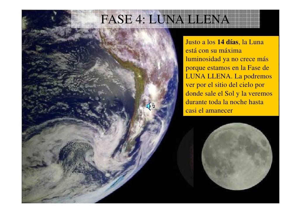 Fases lunares Estamos en luna menguante