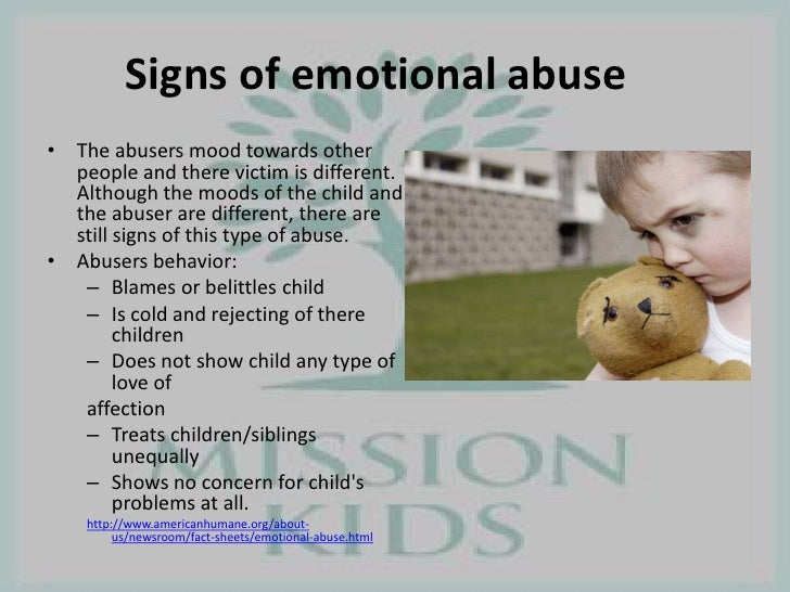 Victims of emotional abuse symptoms